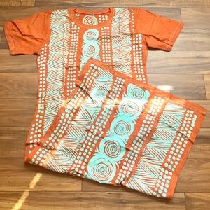 Dresses & Skirts - Vintage patterned Adire dress
